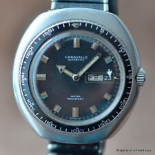 CARAVELLE by BULOVA 42MM OVERSIZED STEEL JET HAND DIVER BEZEL DAY DATE AUTOMATIC