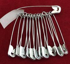 12 Metal Medium Size Safety Pin Craft Pins Just £0.99