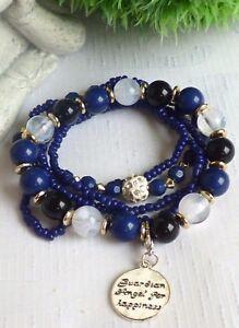 schoenes-Schutzengel-Armband-Perlen-Multi-Strang-5-teilig-Silber-Blau