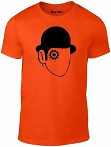 Mens Droog T-shirt - Orange Clockwork Kubrick Stanley Film Classic Cult TV Movie