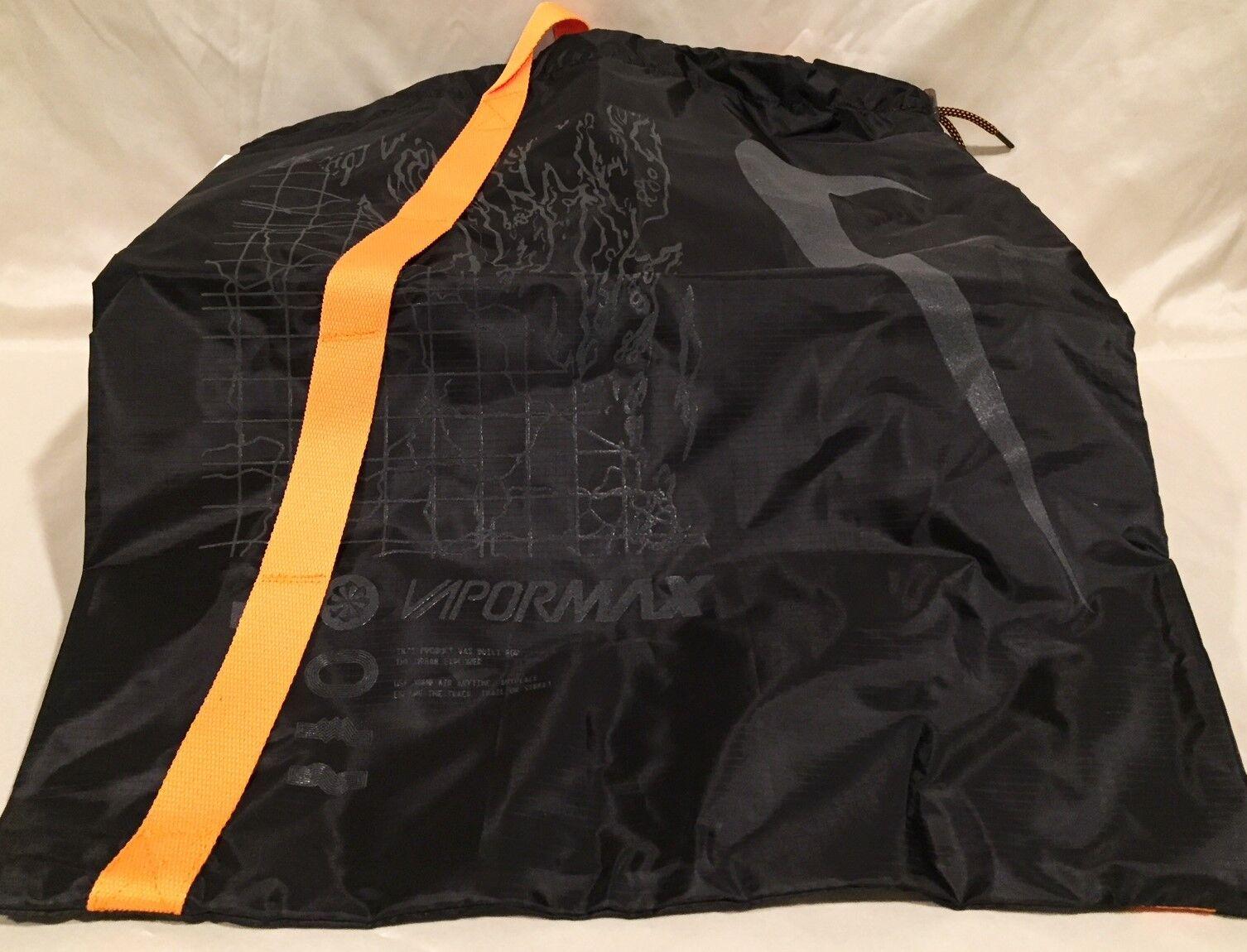 Neue nike air vapormax fk - utility - größe 8 - fk schwarz / orange peel - ah6834-008 573a8a