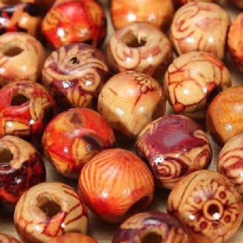 20//50//100x bois perles colorée multicolore 10mm-MIX-Balles bijoux bricolage