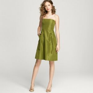 Image Is Loading J Crew 100 Silk Taffeta Lorelei Party Dress