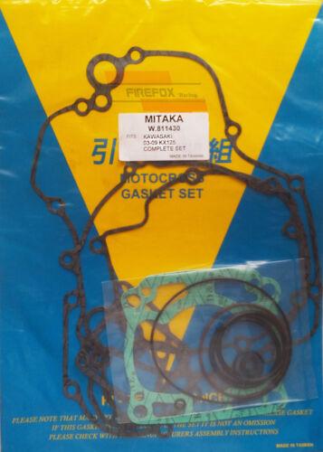 Kawasaki KX125 KX 125 2003-2009 Full Gasket Kit