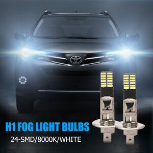 2x-H1-Reemplazo-6500K-HID-Xenon-Blanco-Luz-24-SMD-LED-Bombillas-Luces-Niebla-DRL