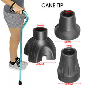 Walking-Stick-End-Tripod-Cane-Tip-Non-Slip-Bottom-Self-Standing-Rubber-Walk