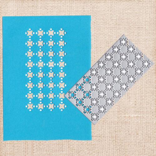 Stanzschablone Karo Rahmen Stencil Template Cutting Dies Scrapbooking Karte Deko