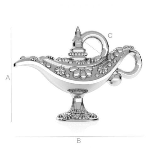 ALADDIN LAMPE Sterling Silber Sehr eleganter Silberanhänger Neu 925er