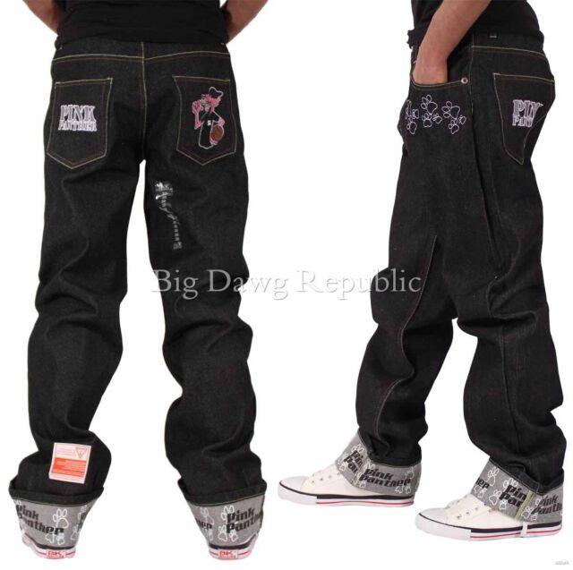 Time Is Money Mens Boys Panther Baggy Loose Fit Hip Hop Skater Denim Jeans PP02