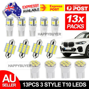 13Pc-12V-T10-LED-White-Car-Interior-Light-Parker-Bulb-Wedge-Globe-31MM-12SMD-New