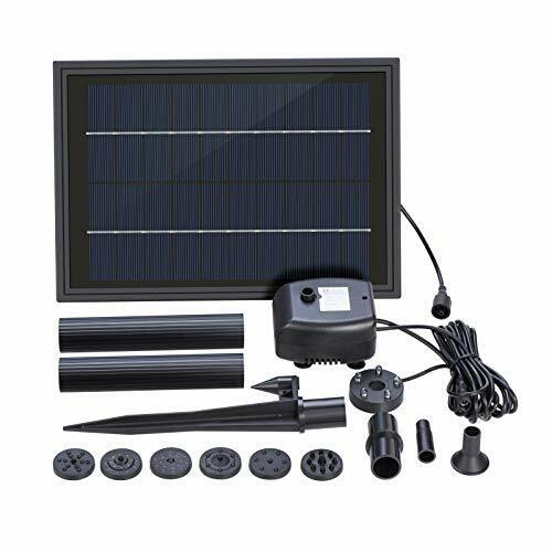 LED Lighting /& Battery Backup Solar Powered Water Fountain Pump