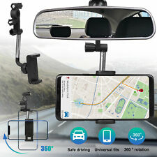 360 Universal Car Rearview Mirror Mount Holder Stand Cradle For Cell Phone Gps