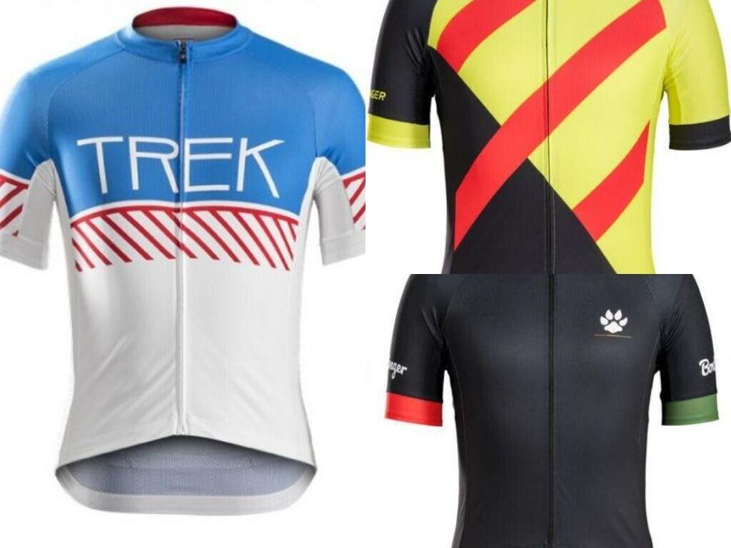 Bontrager Specter Trek Short Sleeve Jersey Cycling Rasta Vintage Blau rot Gelb