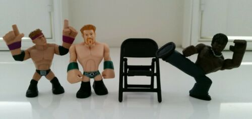 WWE Set of 4 Sheamus, RTruth, Zack Ryder Rumblers & 1 Chair New No Tags Box