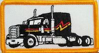 Black Truck Color Iron-on Patch Truck Driver Emblem Gold Border