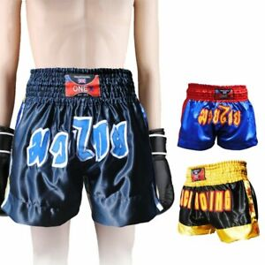 Boxing-Muay-Thai-Kick-MMA-UFC-BLACK-Shorts-Grappling-Cage-Fighting-Gear-Shorts