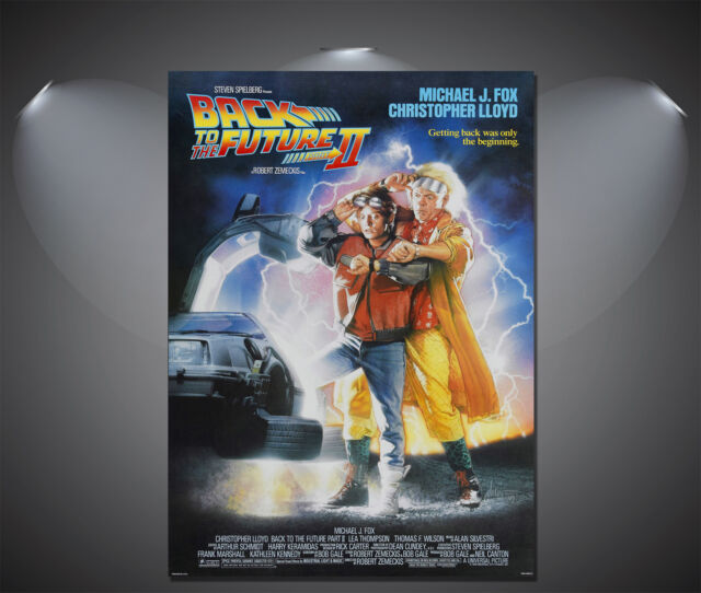 Back to the Future 2 II Vintage Movie Poster - A1, A2, A3, A4 Sizes