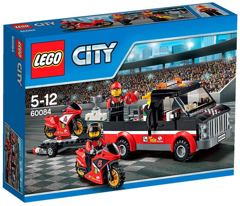 Transporte de la Moto de Cochereras - LEGO CITY  60084 - NUEVO