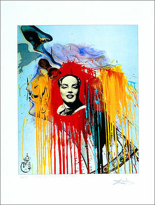 Salvador DALI Marilyn Mao P/Signed Numbered Giclee Art Print