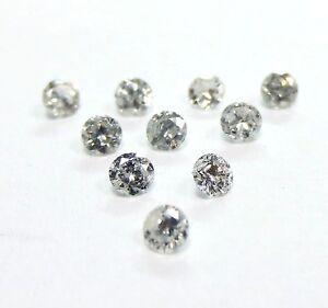 1//2 Carats 2mm WHITE ROUND BRILLIANT POLISHED DIAMONDS