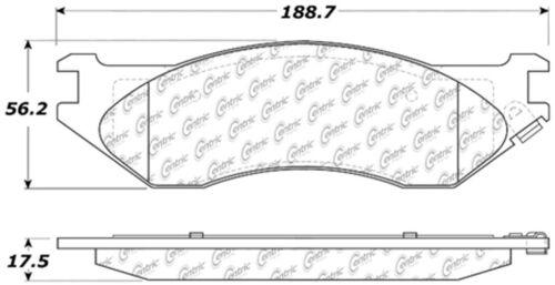 Disc Brake Pad Set-C-TEK Metallic Brake Pads Front Centric 102.08970