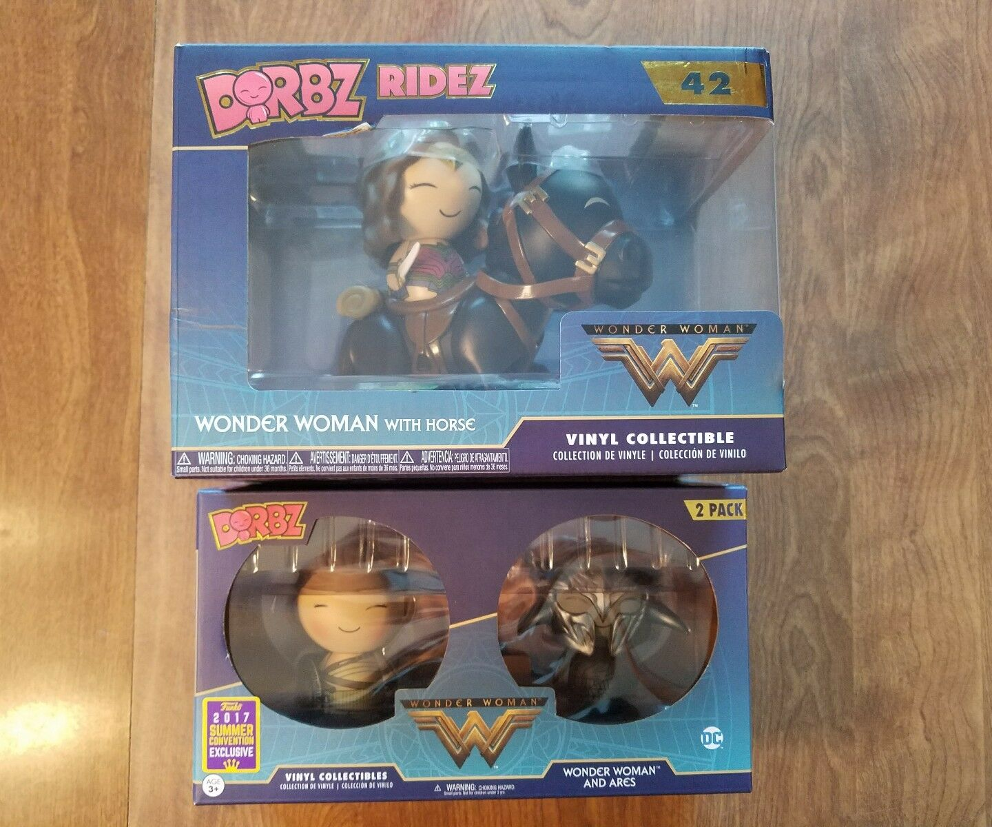Funko Dorbz Wonder Woman Ride with Horse and Wonder Woman with Ares Figures