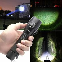 Powerful 5000Lumen 5 Mode XML T6 LED Zoomable Flashlight Tactical Torch Lamp Hik