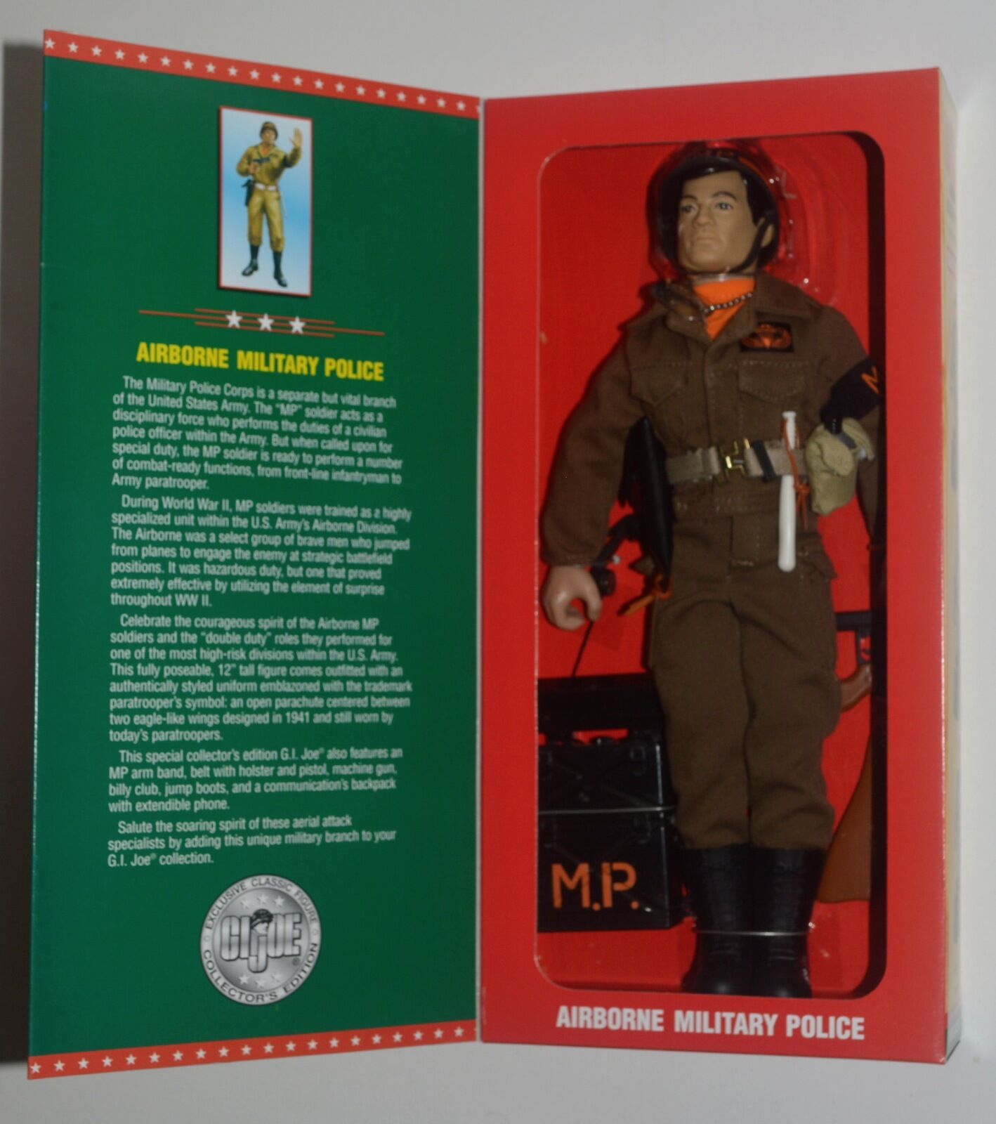 GI Joe AIRBORNE MILITARY POLICE Limited Edition Collector's Special 12  NRFB