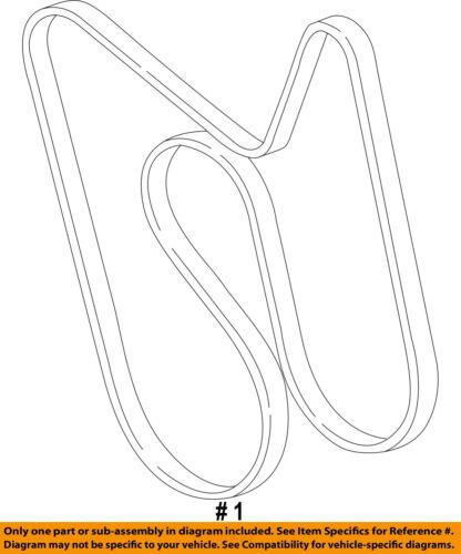 GM OEM-Serpentine Drive Fan Belt 12637202