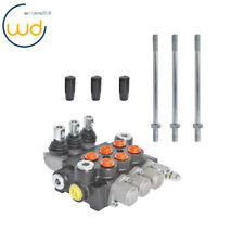 3 Spool Hydraulic Control Valve Double Acting 13 Gpm 3600 Psi Sae Ports