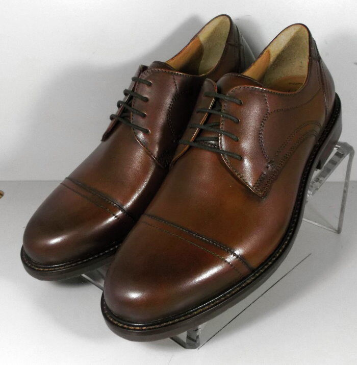 209790 MS50 Men's shoes Size 10.5 M Brown Leather Lace Up Johnston & Murphy