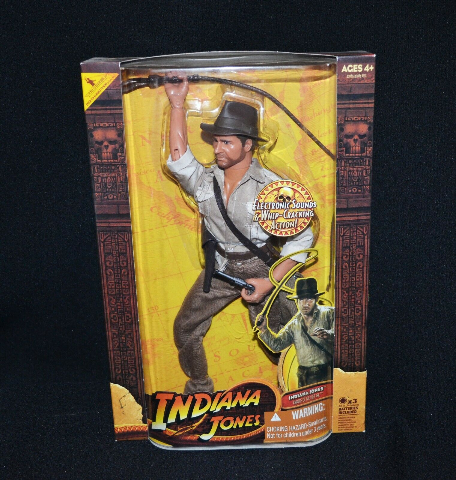 Indiana Jones Raiders of the Lost Ark látigo agrietamiento Acción Muñeca 2008 Hasbro