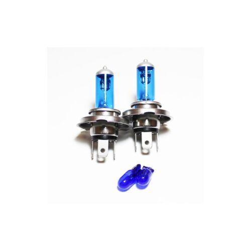 Fiat Panda 169 55w Super White Xenon HID High//Low//Side Headlight Bulbs Set