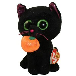 """TY Halloween Beanie Boos 9/"""" Medium POTION Black Cat Plush Toy New with Tags"""