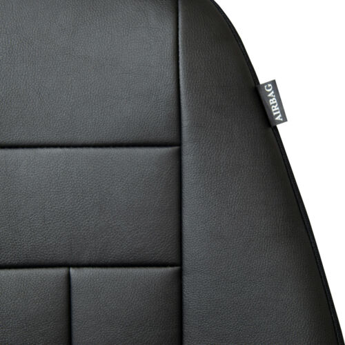 VW Polo IV FL 2005-2009  Maßgefertigte Kunstleder Sitzbezüge in Schwarz
