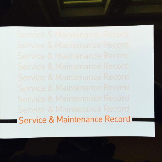 DODGE Auto Servizio Libro Portafoglio STORIA generica record di manutenzione auto in bianco