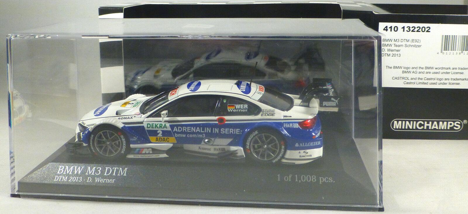 BMW M3 DTM  2 Dirk WERNER squadra SCHNITZER DTM 2013 limited 1,008 MINICHAMPS 1 43