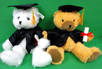 Graduation Teddy Bear Plush Stuffed Toys White Or Brown For Class 2017 Student