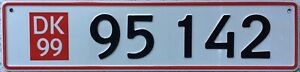 GENUINE-1999-Denmark-Temporary-Export-Danish-Number-Licence-License-Plate-95-142