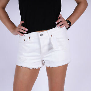 Levi-039-s-501-Original-Fit-Weiss-Damen-Jean-Shorts-DE-34-US-W26