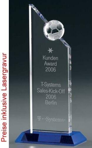 Soccer Soccer Soccer Excellence Award, Kristall Glas - Trophäe 900ab4