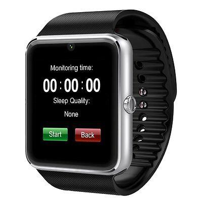 "1.54 ""SIM MTK6261 Bluetooth v3.0 Smart Uhr Android IOS mit Kabel-Silber"