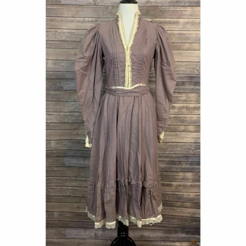 Vintage Gunne Sax 70's Long Puff Sleeve Dress