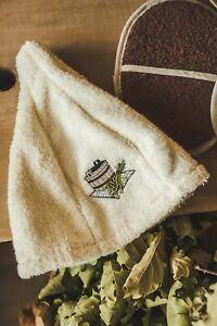 Sauna Hat 100/% Cotton Cap Bath House Kit Universal Banja Schapka Saunahut Red