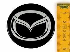 MAZDA ★ 4 Stück ★ SILIKON Ø50mm Aufkleber Emblem Felgenaufkleber Radkappen
