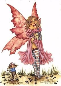 Postcard-Amy-Brown-Gothic-Fairy-THE-FLIRT-2001-Art-Print-Collectable