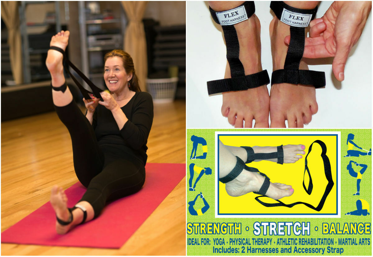 Flex Foot Harness Safe Flexibility Assistance Straps For Stretching Yoga Pilates