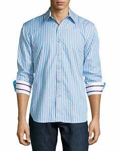 Robert-Graham-Striped-Stretch-Limited-Comfort-Modern-Fit-Mens-Shirt-Shirt-XXL