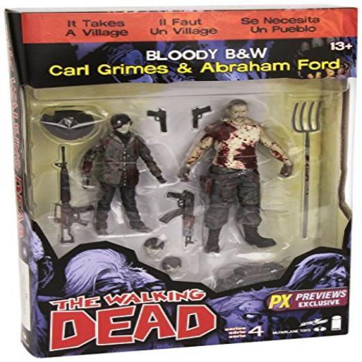 The Walking Dead Comic Series 4 Carl Grimes & Abraham Ford Action Figure 2- Toy
