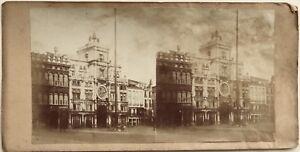 Venezia-Place-Sant-039-Marc-Italia-Fotografia-Stereo-Vintage-Albumina-c1860